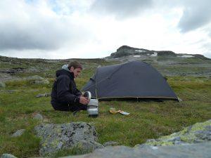 Der Trangia Spirituskocher im Einsatz in Norwegen.