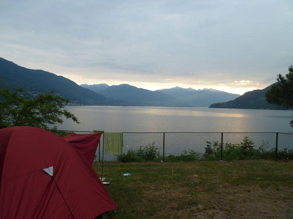 Familienzelt Test am Lago Maggiore